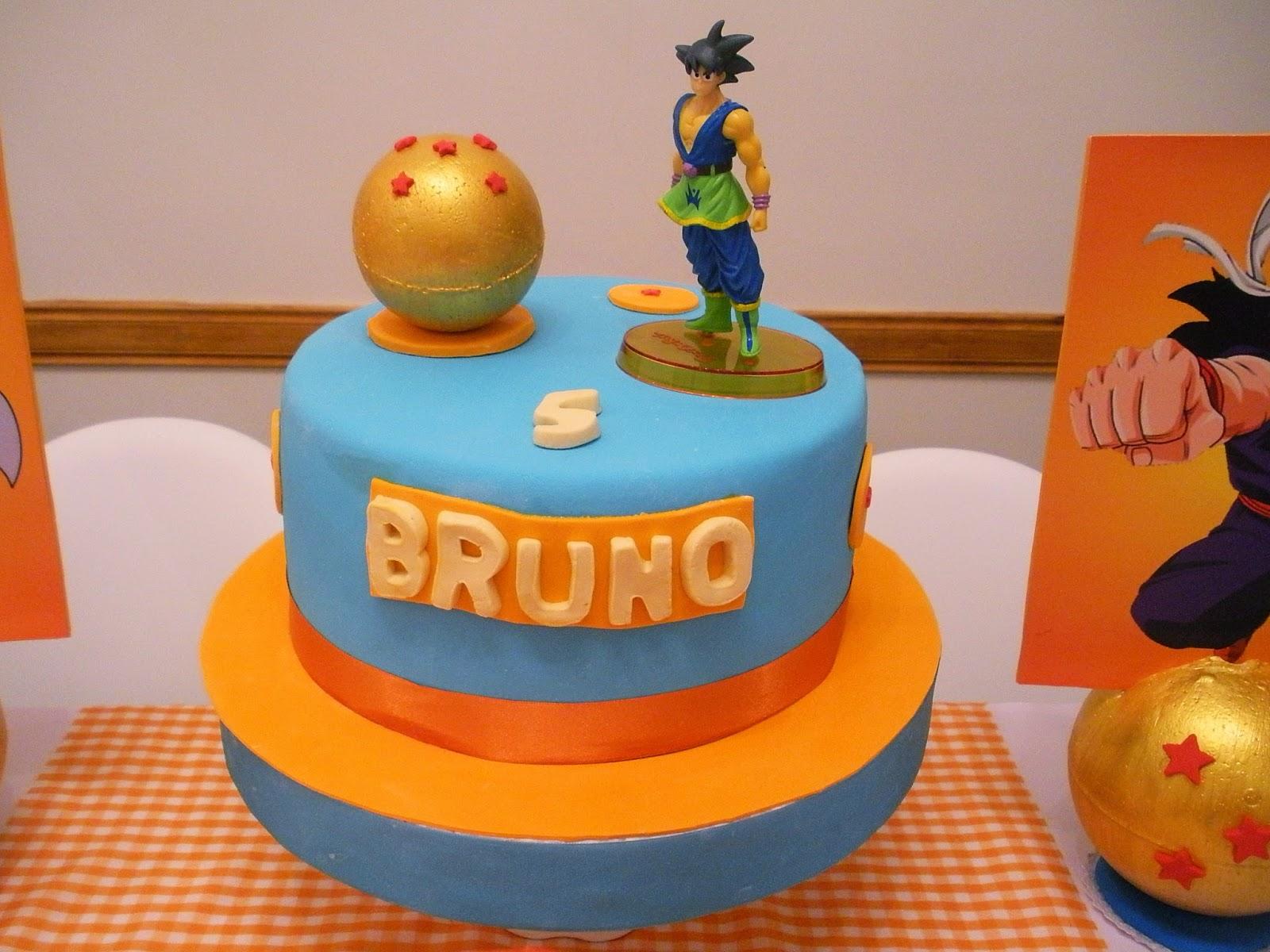 pastel de cumpleanos para fiesta de goku (2) | Decoracion de ...