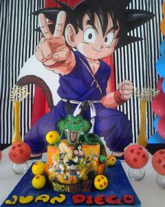 pastel de cumpleanos para fiesta de goku (4)