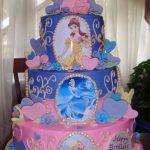 pastel de cumpleanos para fiesta de nina tema princesas diseny (2)