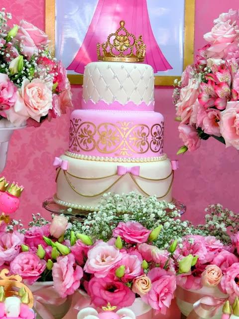 pastel de cumpleanos para fiesta de nina tema princesas diseny