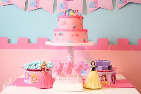 pastel de fondant de princesas