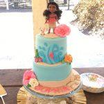 pastel para cumpleanos de moana