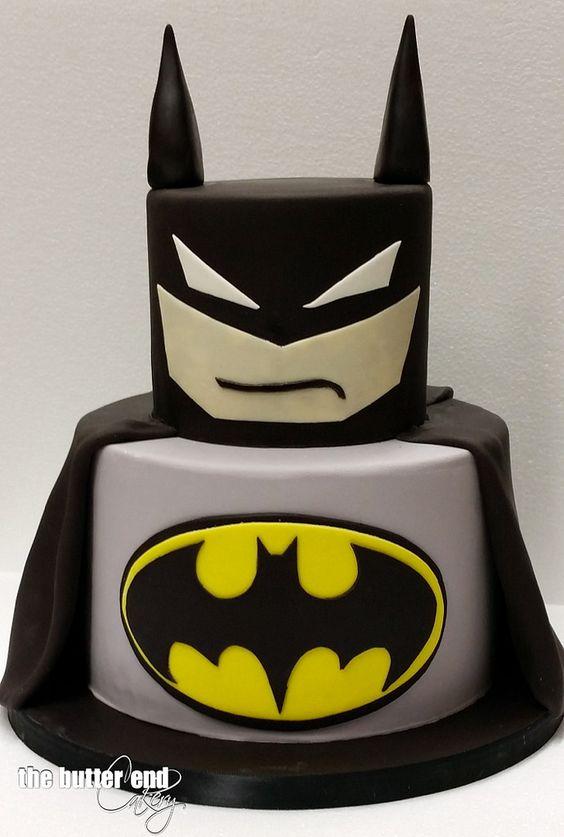 pastel para fiesta de batman