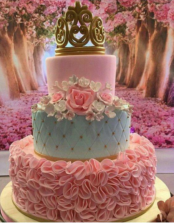 pastel para fiesta de princesas