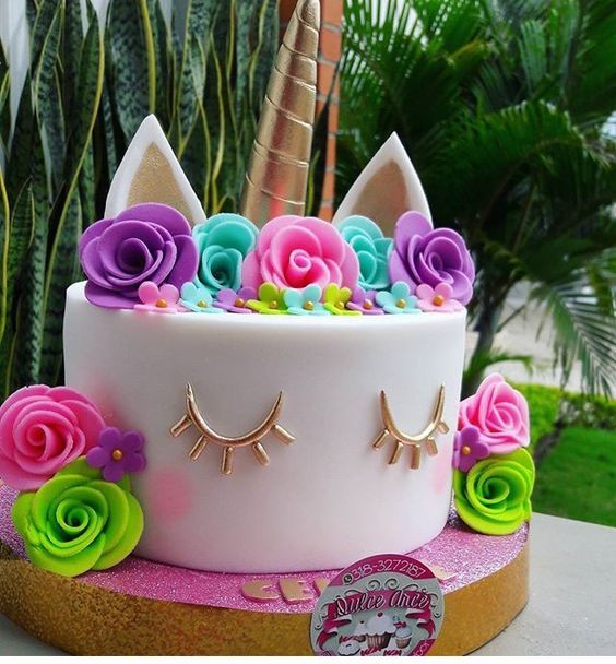 pastel para fiesta de unicornio