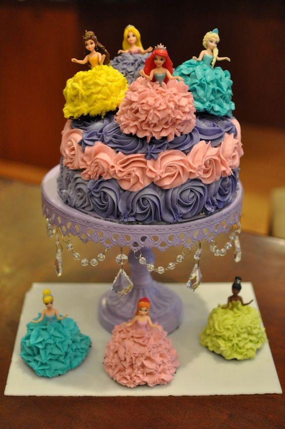 pastel pequeno para fiesta de princesa (2)
