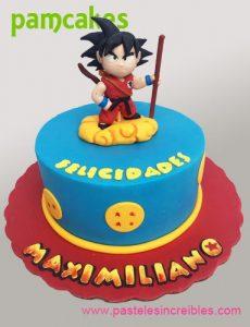 pastel pequeno para fiesta infantil de goku (3)