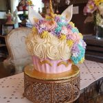 pastel sencillo de unicornio