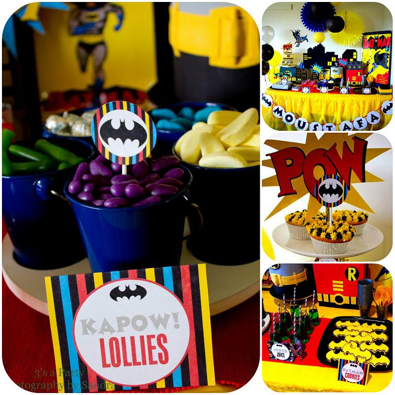 postres y bocadillos para una mesa de dulces fiesta batman (6)