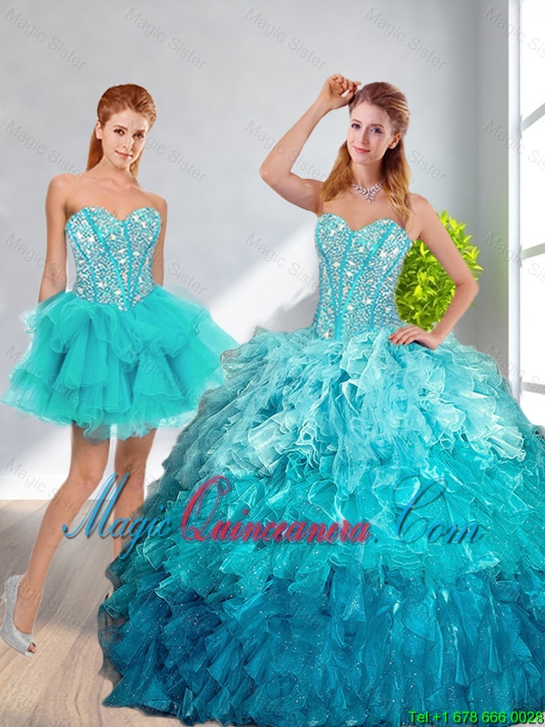 15 years removable dresses green water (2)