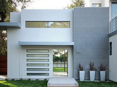 Fachadas de Casas modernas, minimalistas, rústicas, sencillas, de dos y un piso