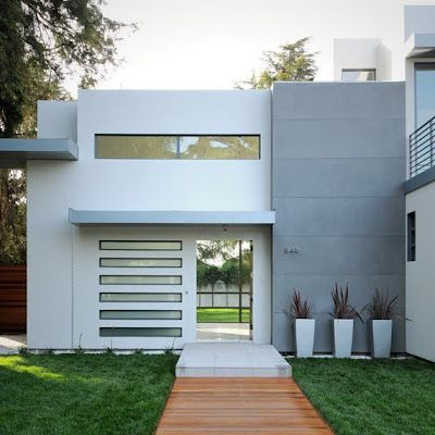 Fachadas de casas modernas minimalistas r sticas sencillas Pisos para exteriores de casas modernas