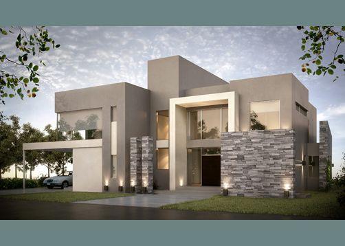Fachadas de casas modernas 3 decoracion de interiores for Casas minimalistas modernas con cochera subterranea