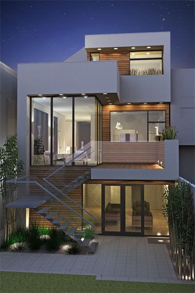 Fachadas de casas modernas minimalistas rusticas - Fachadas de casas rusticas modernas ...