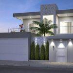 Fachadas de Casas modernas sencillas de dos y un piso (2)