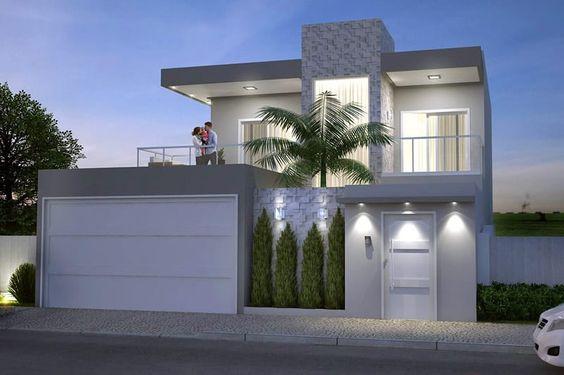 Fachadas de casas modernas sencillas de dos y un piso 2 for Fachadas de casas de un piso sencillas y modernas