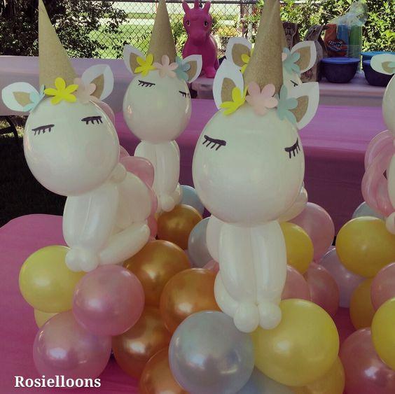adornos de unicornios para fiestas infantiles 5