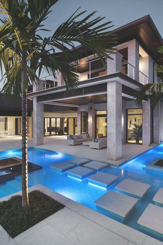 Casas modernas con piscina decoracion de interiores fachadas para casas como organizar la casa - Casas modernas con piscina ...