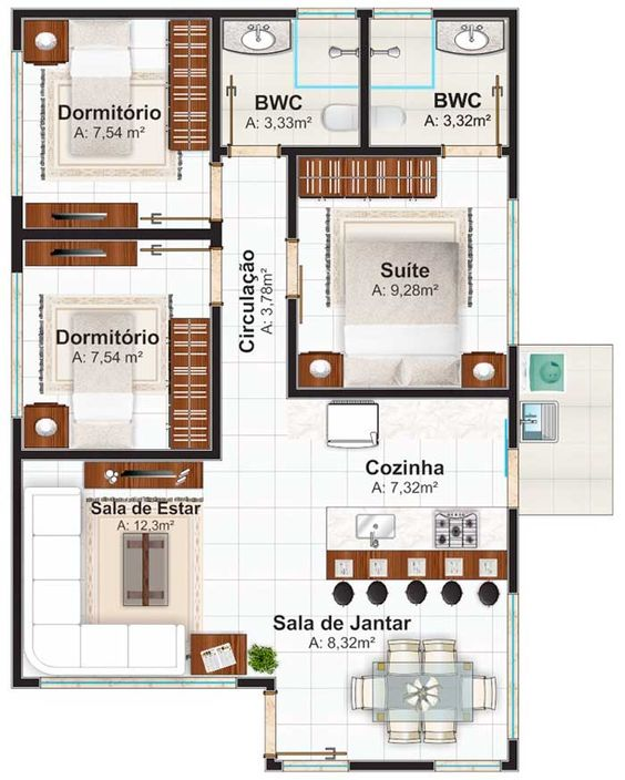 casas modernas planos (2)
