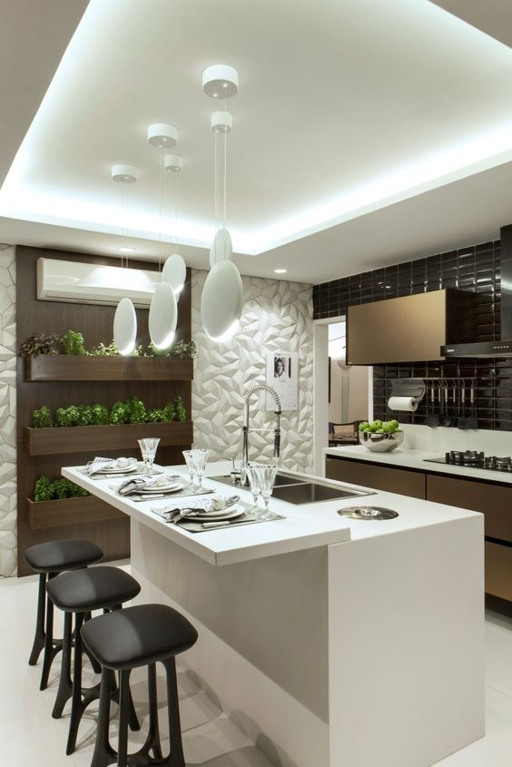 Cocinas modernas 2018 con barra islas r stica minimalistas for Cocinas modernas pequenas en forma de l