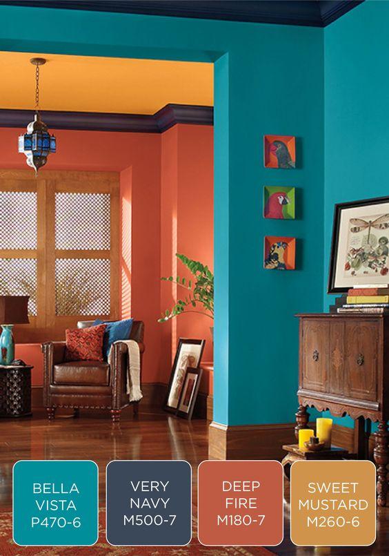 Colores para salones 2019 colores de moda para decorar - Colores para salones ...