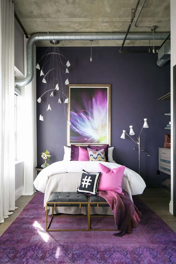 Decoracion de interiores color ultra violet