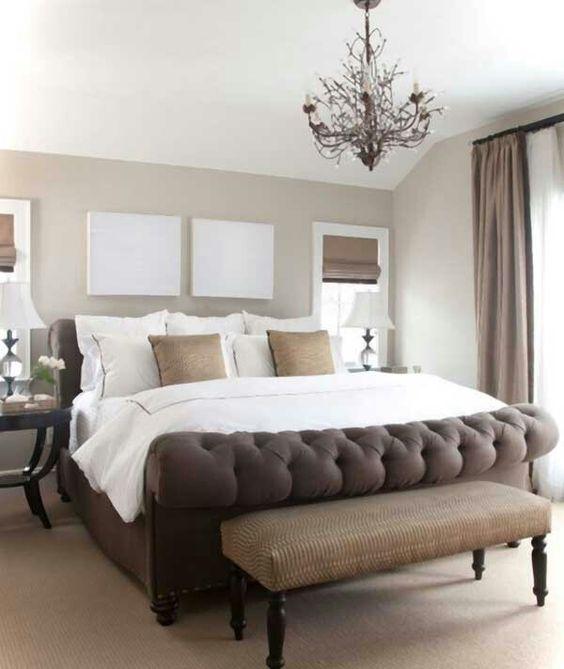 Dormitorios decorados con color Emperador
