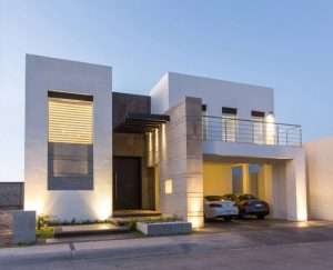 fachadas de casas de dos pisos minimalistas (2)