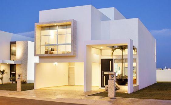 fachadas de casas de dos pisos minimalistas (4)