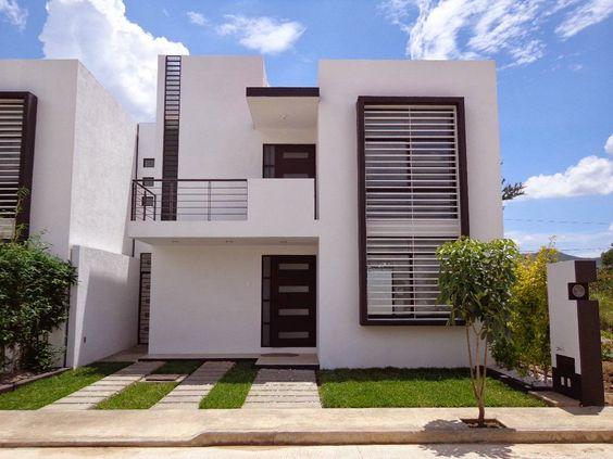 Casas modernas de dos pisos modelos de vivienda modernos for Fachadas de casas de dos pisos sencillas