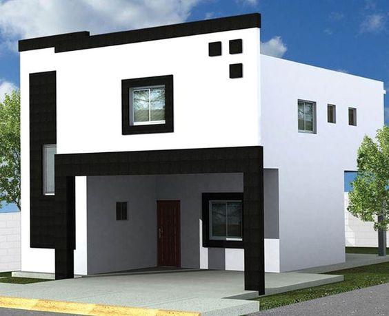 fachadas de casas de dos pisos sencillas (2)