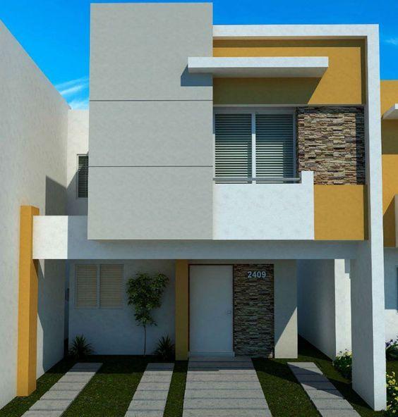Fachadas de casas de dos pisos sencillas decoracion de for Fachadas minimalistas de casas pequenas