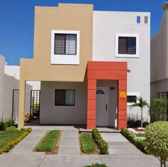 fachadas de casas de dos pisos sencillas (5)