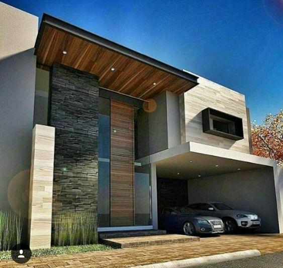Fachadas de casas modernas de dos pisos decoracion de for Casas pequenas de dos pisos modernas