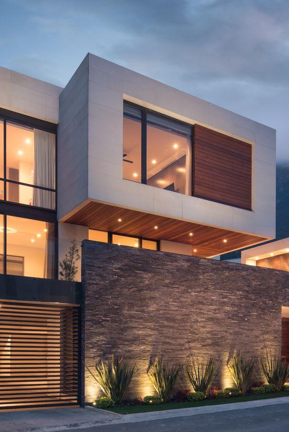 Casas modernas 2018 2019 fotos e ideas de casas modernas for Diseno de casa moderna de dos pisos fachada e interiores