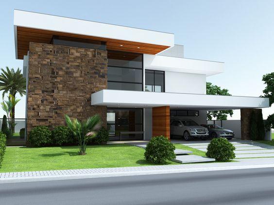 Casas modernas 2018 2019 fotos e ideas de casas modernas for Fachadas de casas modernas de 6 metros