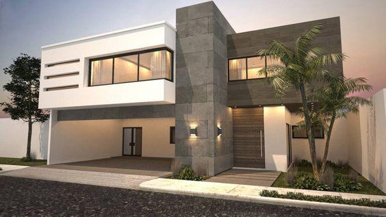 Fachadas de casas modernas de dos pisos decoracion de for Pisos minimalistas modernos
