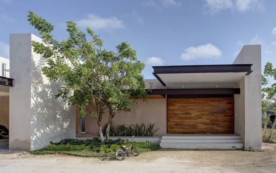 Fachadas de casas modernas de un piso