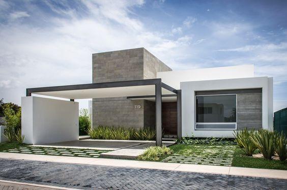 fachadas de casas modernas de un piso (2)