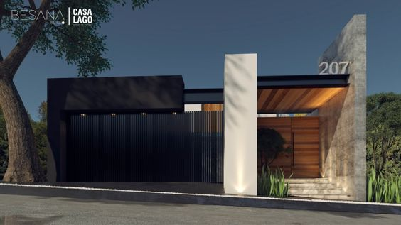 fachadas de casas modernas de un piso (3)
