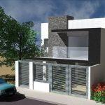 Fachadas modernas de casas de dos plantas