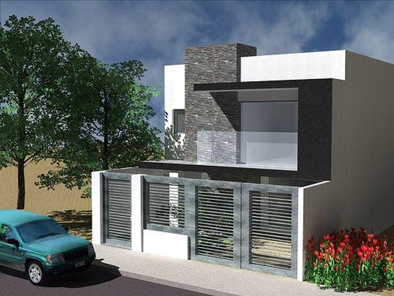 Fachadas modernas de casas de dos plantas Pisos modernos para casas minimalistas