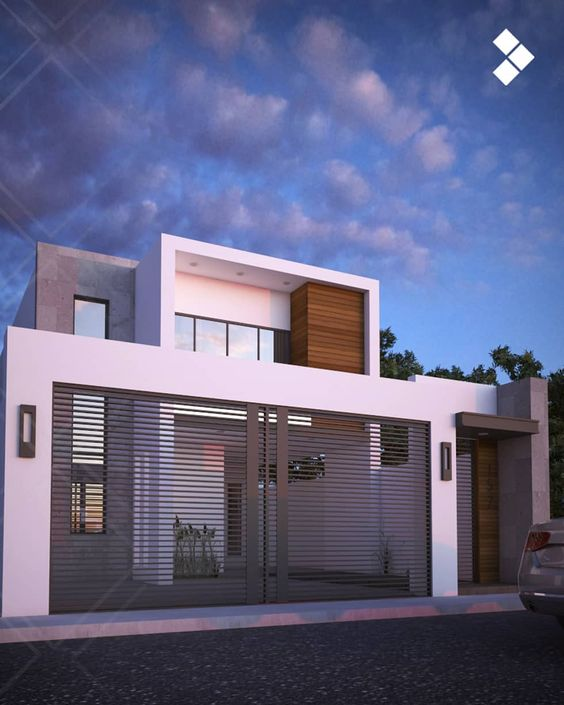 fachadas modernas de casas de dos plantas (3)