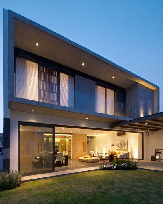 fachadas modernas de casas de dos plantas (5)