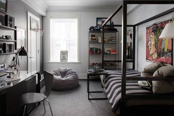 Dormitorios peque os ideas en decoraci n moderna y color for Disenos de cuartos para hombre