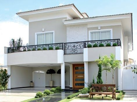 Casas modernas de dos pisos modelos de vivienda modernos for Fachadas de casas modernas 1 piso