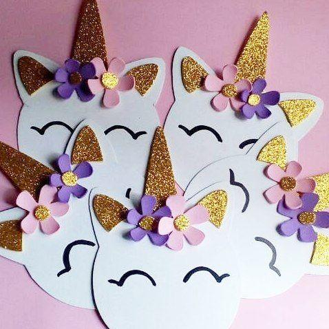 invitaciones de unicornio para 3 años