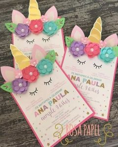 invitaciones para fiesta de unicornio