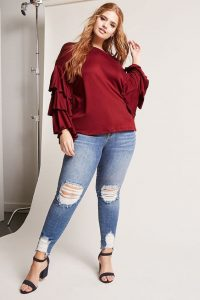 Modelos de blusas para gorditas para fiesta