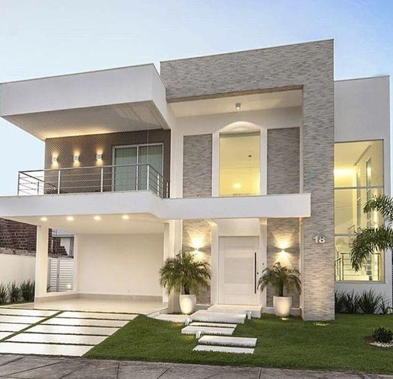 Modelos de casas de dos pisos para construir decoracion de interiores fachadas para casas como for Casas modernas para construir